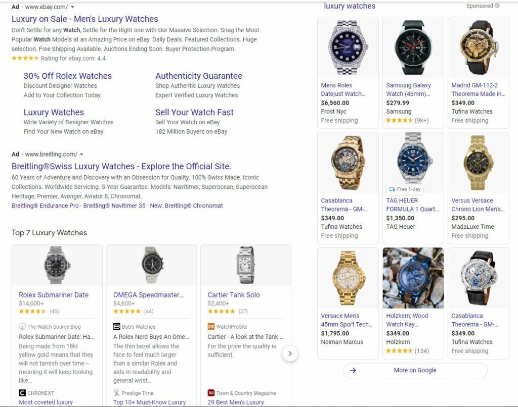 Luxury Watch Ads