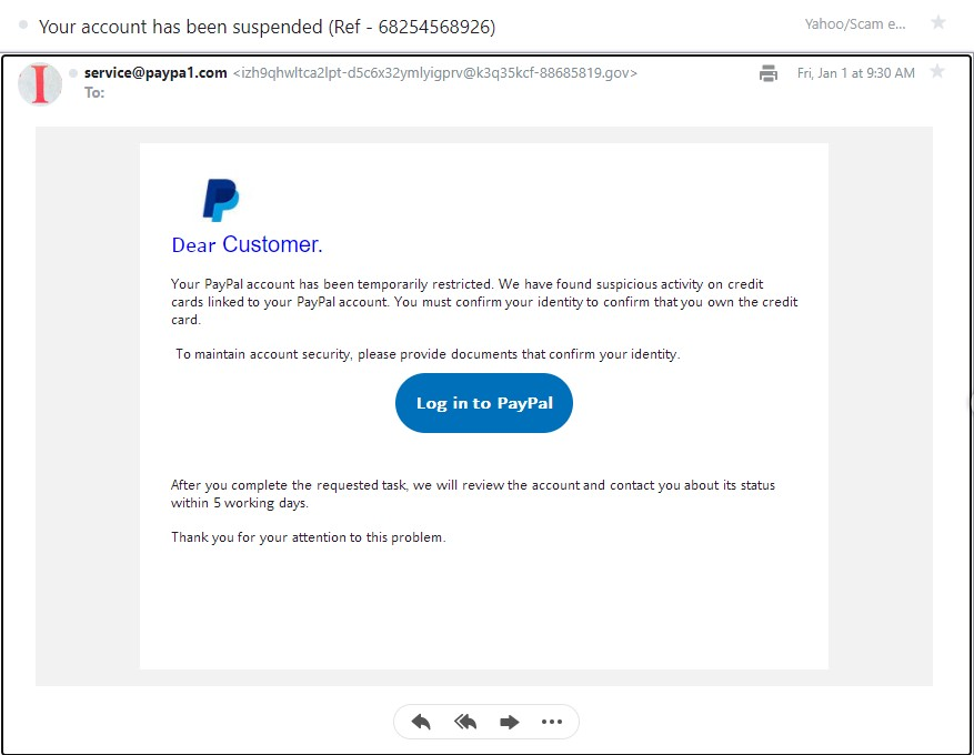 New PayPal Scam